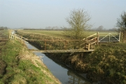 Foot bridge over a rhyne