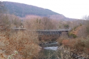 Pipe bridge by Abercynon