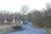 B5035 road as it approaches the Knockerdown pub