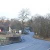 B5035 road as it approaches the Knockerdown pub