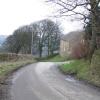 The road passing by Fox Lane Farm.