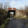 Railway bridge close to Colethrop village