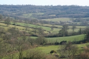 Clayhidon: view from Half Moon car park