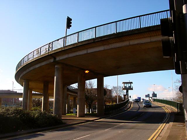 Ramp down from the Swing Bridge