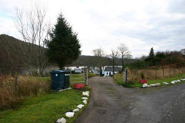 Entrance to Tayvullin on the B8025.