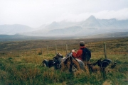 Moorland track Grealin, Skye