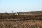 Ploughing near Preston Bissett