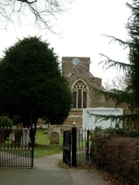 All Saints, Wilshamstead; Church & Gateway