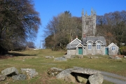 The Old Schoolhouse and Church Tower, Sampford Spiney