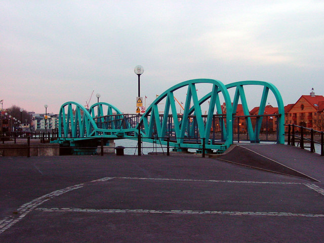 Bridge along the Floating Harbour