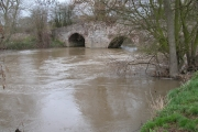 Moreton Bridge and a swollen river Lugg