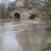 Moreton Bridge and a swollen river Lugg