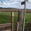 Stile and footpath signs, Clehonger