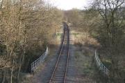 Railway line.