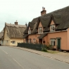 Thatched cottages at Lamb Corner, Essex