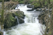 Waterfalls on river Irfon