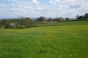 Farmland above the river Severn