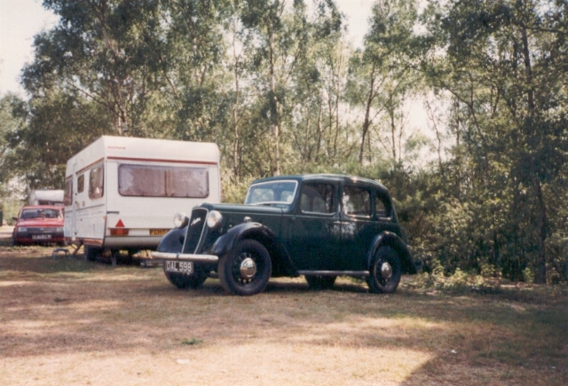 Willow Holt campsite, 1989