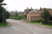 Laxton village looking south from the Dovecote Inn