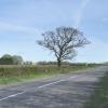 Lincolnshire road scene.