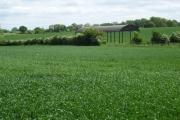 Barn among fields