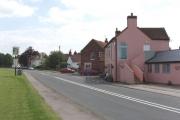 A40 road and village centre, Tetsworth