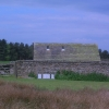 Barn and walled enclosure on the edge of the Chatsworth Estate