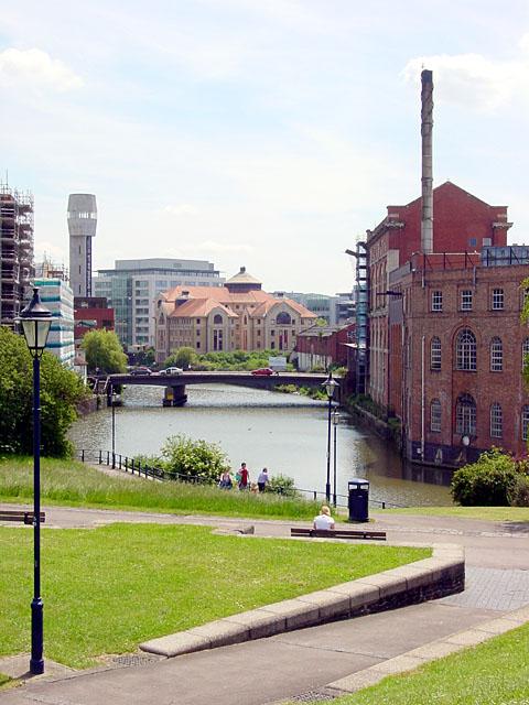 Castle Park looking towards St Philip's Bridge