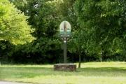Village sign at Acton, Suffolk