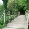 Footbridge carrying bridleway 330 over a tributary of the River Wey