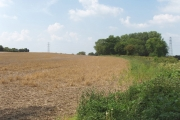 Stubble field, Peggs Farm, Haseley