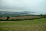 Farmland looking towards Borth Fawr