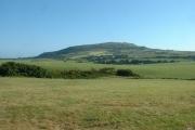Farmland, looking towards Mynydd Rhiw