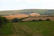 Farmland at the foot of Bostal Hill