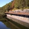 Disused cantilevered mine  railway/conveyor