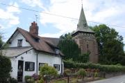 Rose Cottage and Holy Trinity, Capenhurst