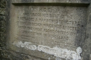 1932 Foundation Stone for the road bridge over the River Lugg at Aymestrey