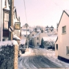 The Centre of Parracombe in winter