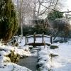 Bridge over frozen stream