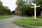 Road junction at Bacon End, Essex