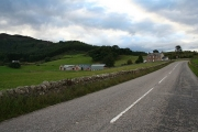 Dounie off the A836 heading westwards.