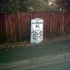 Milepost - B1121 at Kelsale