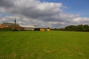 Farm Buildings and Containers, West of Gilberdyke