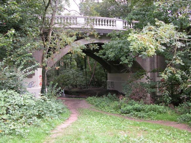Bridge over the river Trym