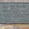 Plaque on Halkirk Bridge