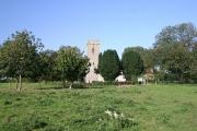 St Michael South Elmham church and green