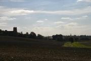 Two churches silhouette