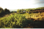 Edinbane village from cemetery track