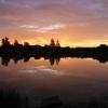 Sunrise over the Lakeside fishery, 6:32am
