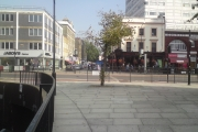 Edgware Road outside Paddington Green police station